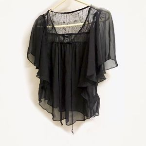 New! Sheer blouse size S petite. NWOTS